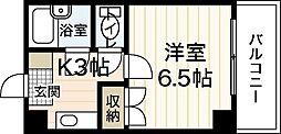 広島県広島市西区新庄町の賃貸マンションの間取り