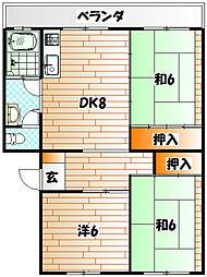 清滝マンション[4階]の間取り