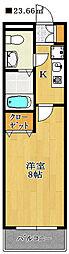 らふぃね壱番館[2階]の間取り