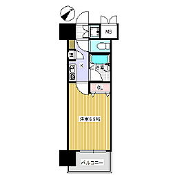 トーカンキャステール西湊町[8階]の間取り