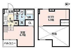 大阪府堺市北区東雲東町1丁の賃貸アパートの間取り