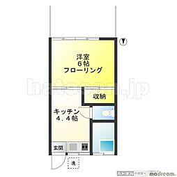 小野澤荘A 100B[1階]の間取り