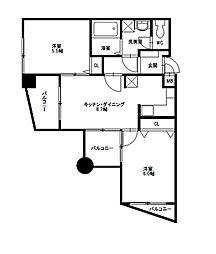 ニッセイ・ディーセント小笹[4階]の間取り