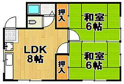 マンション藤田[3階]の間取り