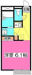 東京都東村山市秋津町2丁目の賃貸アパートの間取り