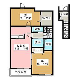 ハービスト ホーム[2階]の間取り