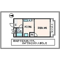 ブルーム21[1階]の間取り