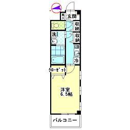 東京都葛飾区東新小岩7丁目の賃貸マンションの間取り