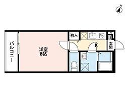 JR東北本線 土呂駅 徒歩5分の賃貸アパート 1階1Kの間取り