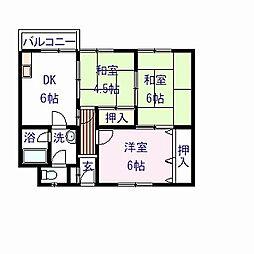 福本ハイツI[2階]の間取り