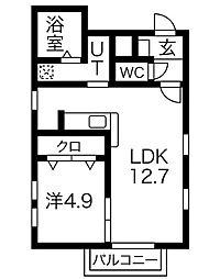 GLANZ千種[3階]の間取り