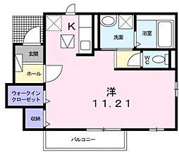 グラースI[1階]の間取り