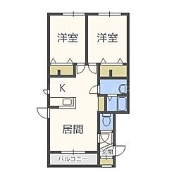北海道札幌市東区北二十六条東9丁目の賃貸アパートの間取り