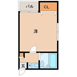 松元マンション[401号室]の間取り