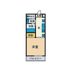 パーシモン湘南[5階]の間取り