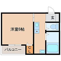 兵庫県尼崎市東本町4丁目の賃貸アパートの間取り