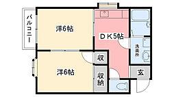 今津ロイヤルマンション[302号室]の間取り