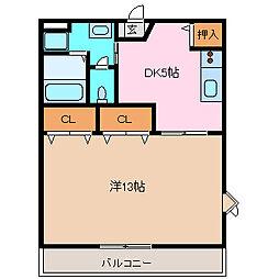 モア・ジュール[203号室号室]の間取り