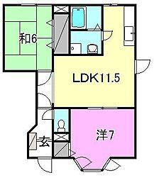 ヴィラ軽井沢C[102 号室号室]の間取り