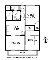 ハイトーンドマンション[2階]の間取り