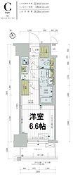 レジュールアッシュTAISHO LEGANT 7階1Kの間取り