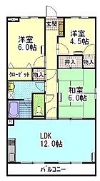 陽香マンション[4階]の間取り