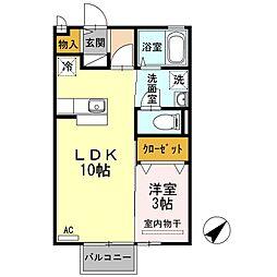 カレッツァK[2階]の間取り