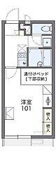 レオパレスソレイル横田Ⅱ[1階]の間取り