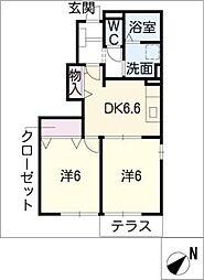 エテルノ・リブラ E棟[1階]の間取り