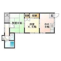 サンビレイ32[2階]の間取り