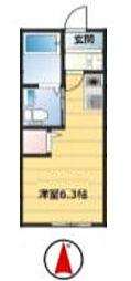 神奈川県横浜市南区永田南1丁目の賃貸アパートの間取り