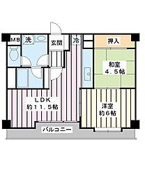 メゾン陣屋行徳[10階]の間取り