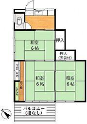 古坂荘A棟[2階]の間取り