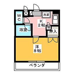 愛知県名古屋市港区小碓1丁目の賃貸マンションの間取り