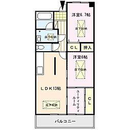 RENACE MITOU(ルネスミトウ)[3階]の間取り