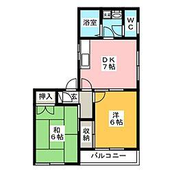 メゾン・ド・ナカシマII[2階]の間取り