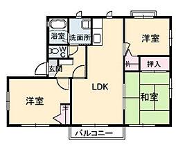 シャーメゾン OKI[A201号室]の間取り