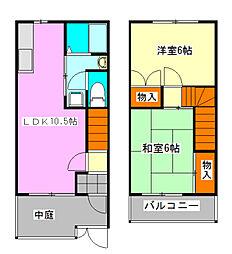 千葉県船橋市丸山1丁目の賃貸アパートの間取り