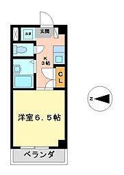 愛知県名古屋市中村区大秋町3丁目の賃貸マンションの間取り