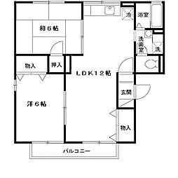 フローラルAIKOHEN[1階]の間取り
