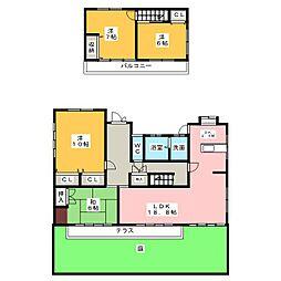 [一戸建] 愛知県名古屋市守山区小幡中3丁目 の賃貸【/】の間取り