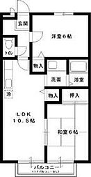 COZY・HOUSE・SOGA[203号室号室]の間取り