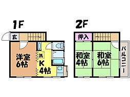 愛媛県松山市和泉南3丁目の賃貸アパートの間取り
