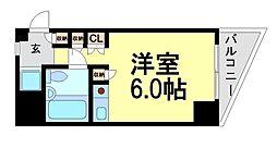 キューブ東塚口[2階]の間取り