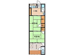 宮町マンション[3階]の間取り