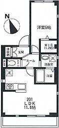 東急田園都市線 桜新町駅 徒歩9分の賃貸マンション 2階1LDKの間取り