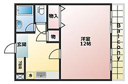 兵庫県神戸市須磨区稲葉町2丁目の賃貸マンションの間取り