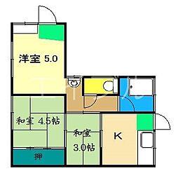 児玉アパート1階北[2階]の間取り