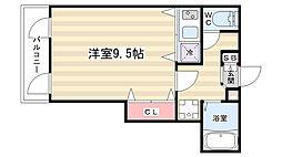 祇園ケントビル[4-C号室]の間取り