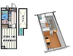 東京都足立区西新井4丁目の賃貸アパートの間取り